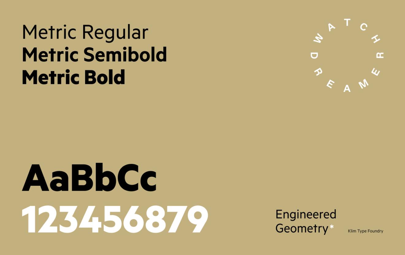 Typographie de Watchdreamer.