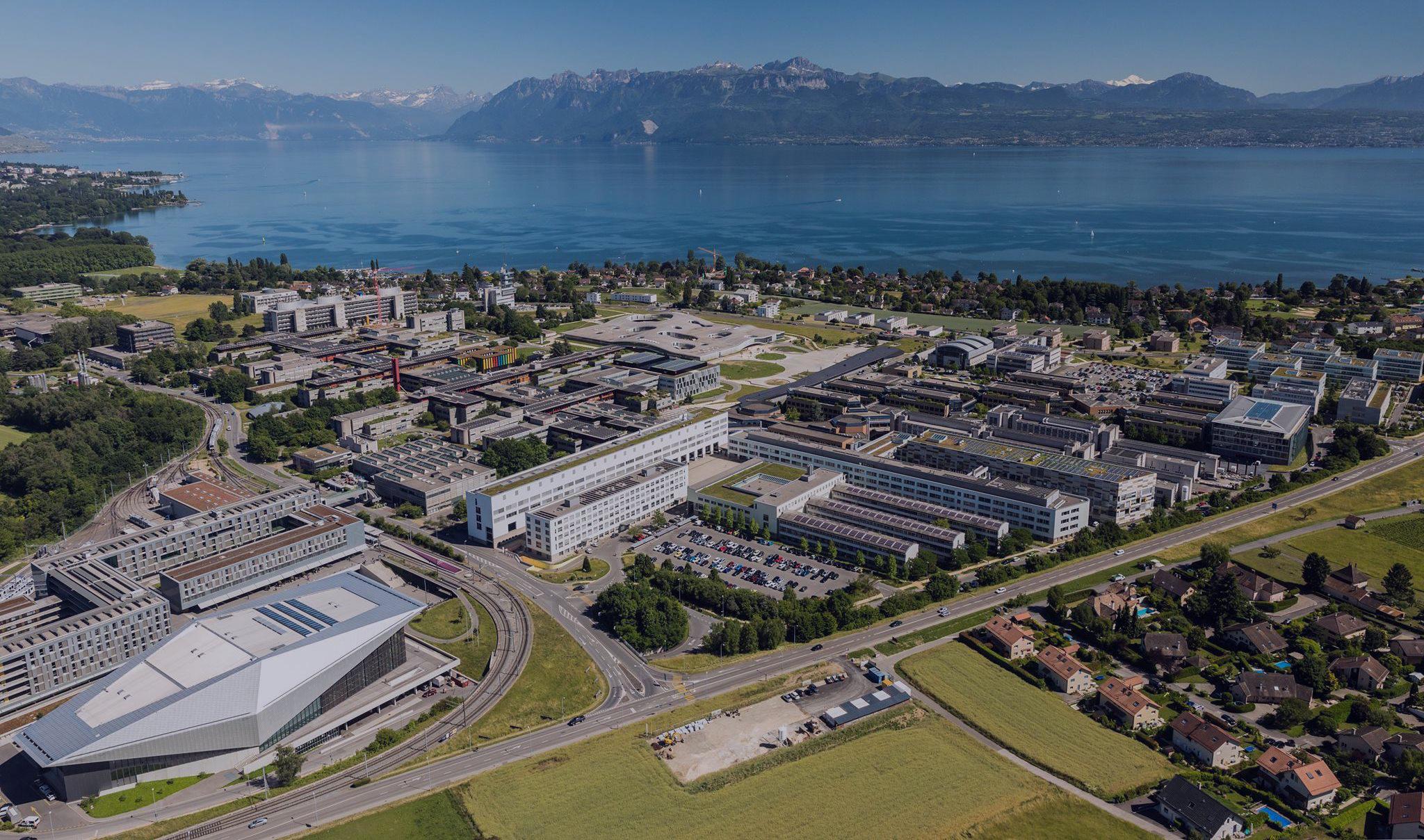Le campus de l'EPFL vu du ciel