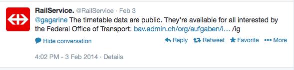 post twitter RailService