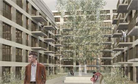 Image de synthèse du projet immobilier à Sébeillon