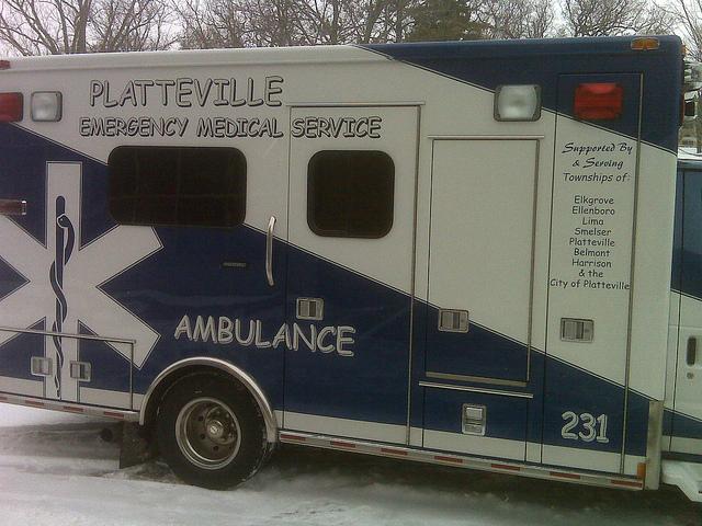 Photo d'une ambulance