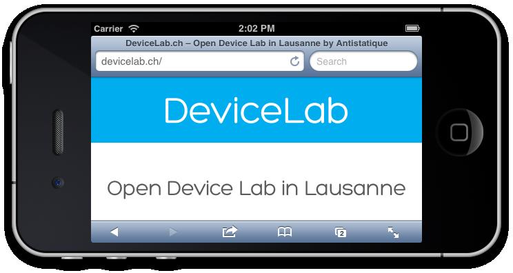 Image du device lab sur mobile