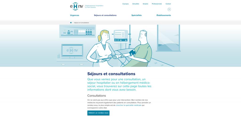 Page : Séjours et consultations