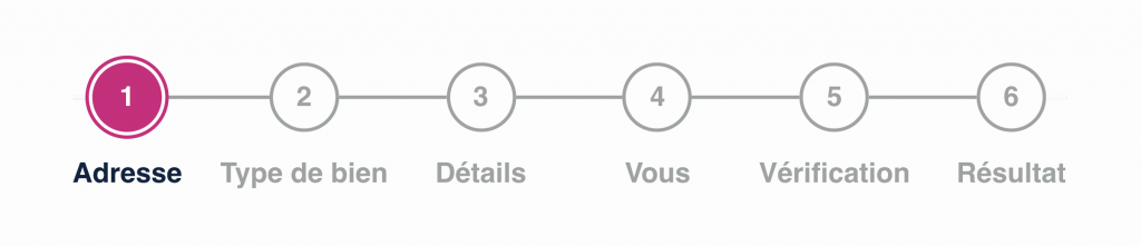 image des étapes dans un formulaire