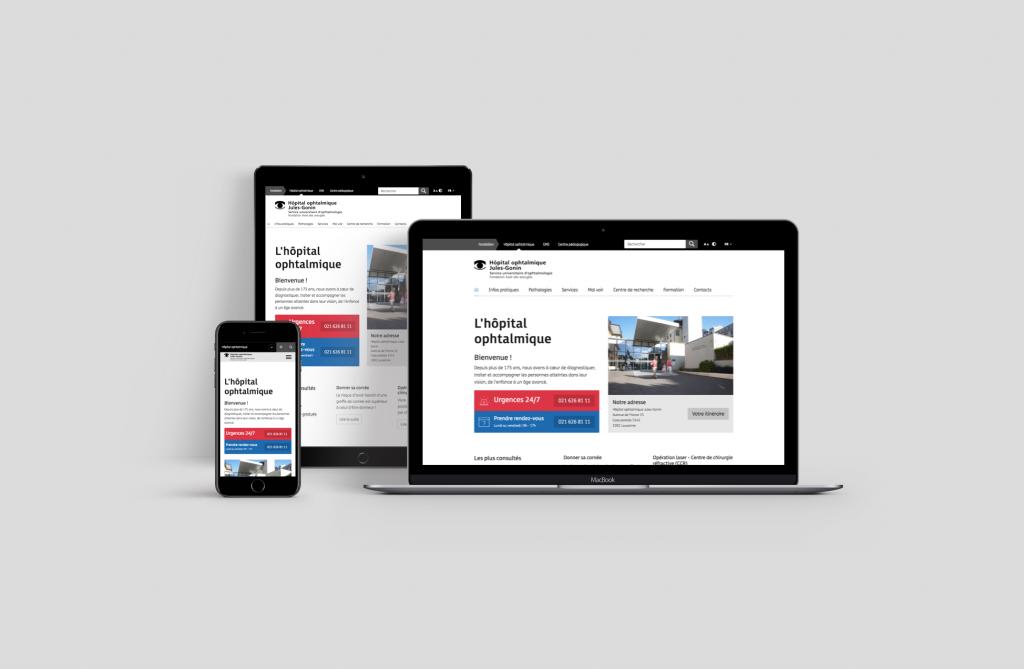 Site internet de l'hôpital
