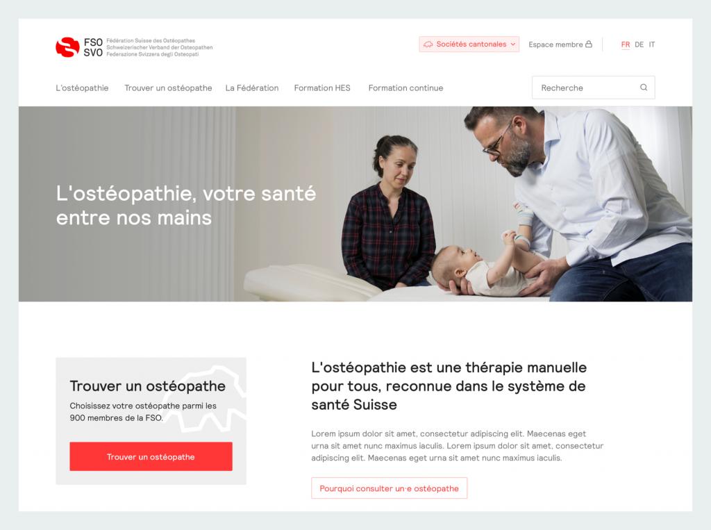 demo portfolio osthéopathe