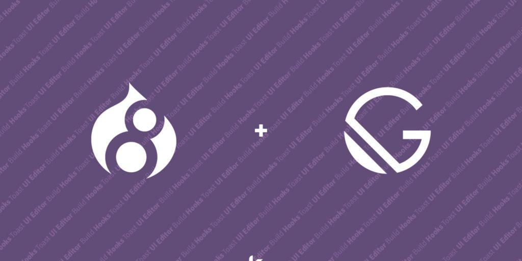 Drupal et Gatsby logos