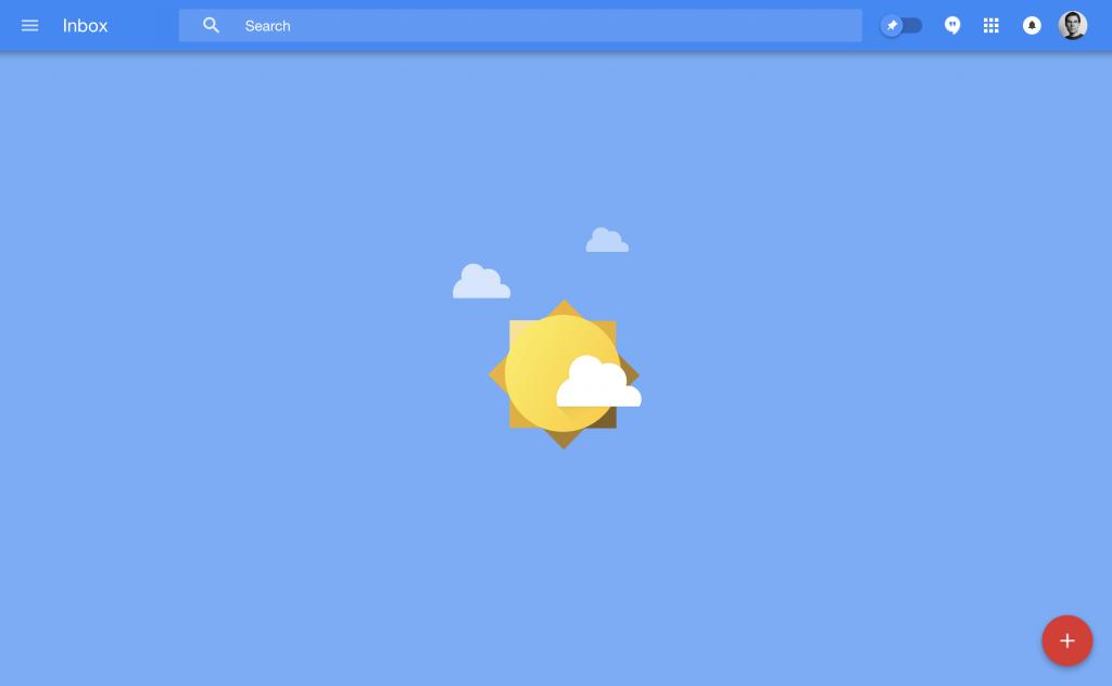 empty state de gmail