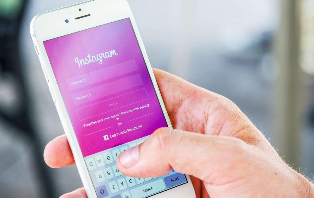 Instagram Page de Login. Agence UX Design Genève Lausanne.