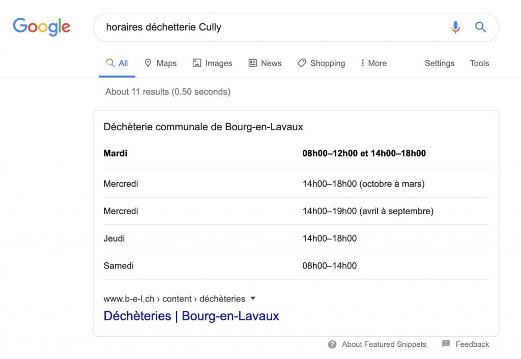 Horaires déchetterie Cully - Antistatique Genève Lausanne
