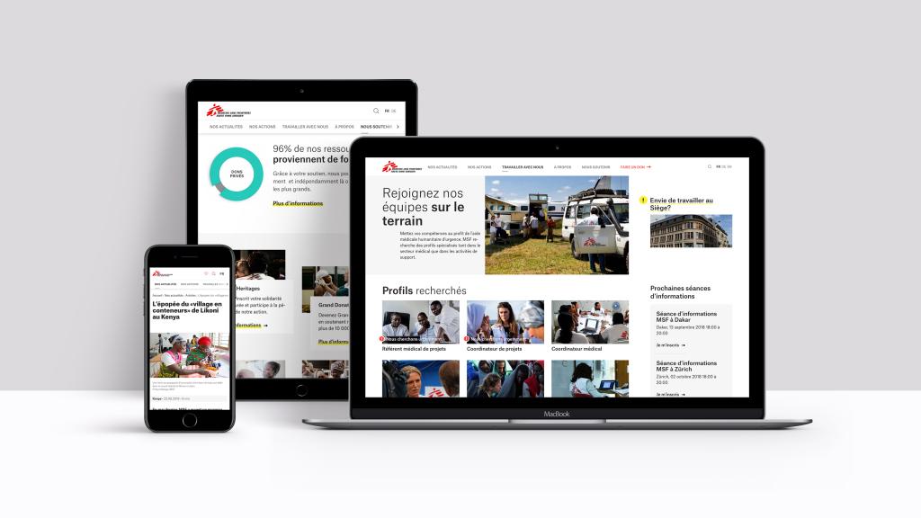 Site internet de MSF